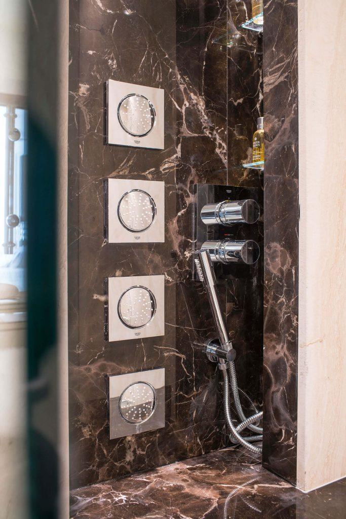 Hidden Shower Storage