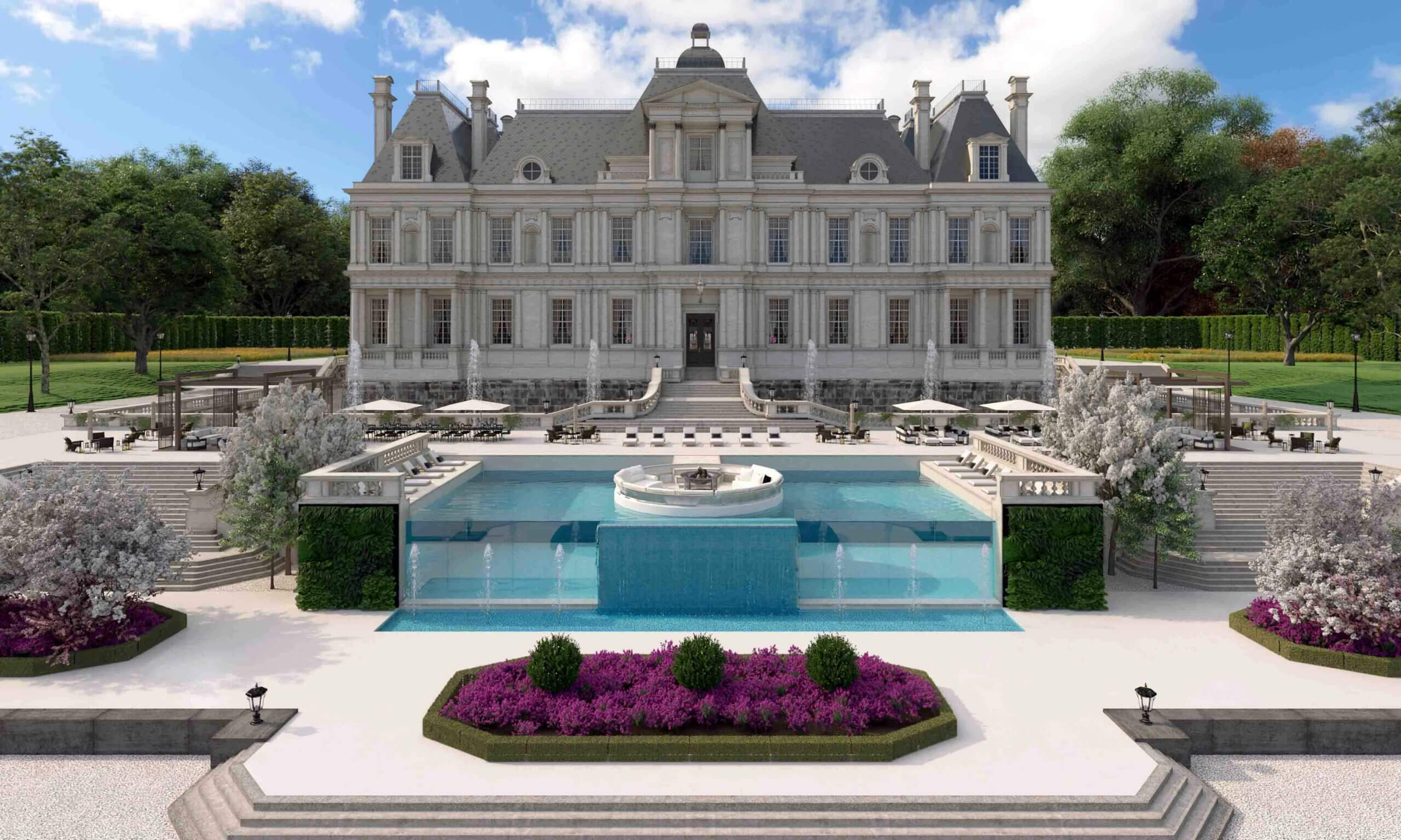 Mansion external entertaining area